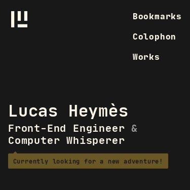 Screenshot of https://www.lucas.computer/
