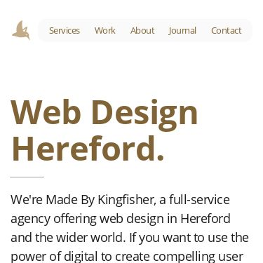 Screenshot of https://www.madebykingfisher.co.uk/