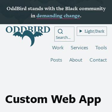 Screenshot of https://www.oddbird.net/