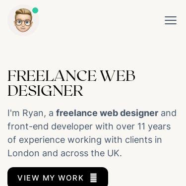 Screenshot of https://www.ryangittings.co.uk