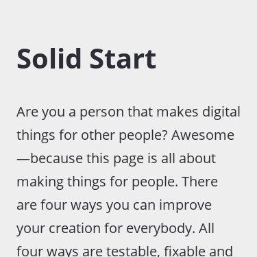 Screenshot of https://www.solidstart.info/