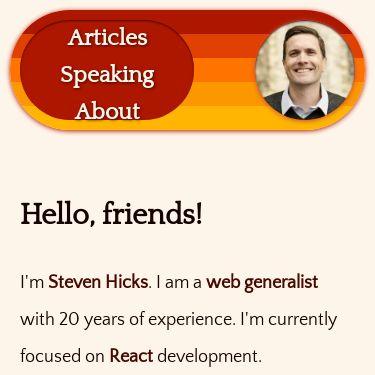 Screenshot of https://www.stevenhicks.me