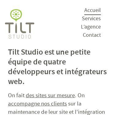 Screenshot of https://www.tilt-studio.fr/