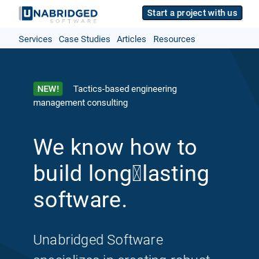 Screenshot of https://www.unabridgedsoftware.com/