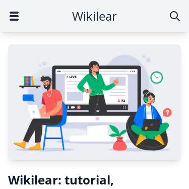 Screenshot of https://www.wikilear.it/