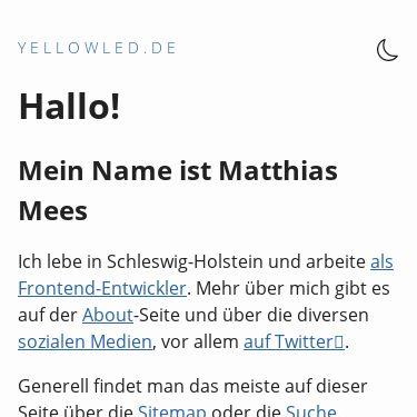 Screenshot of https://www.yellowled.de