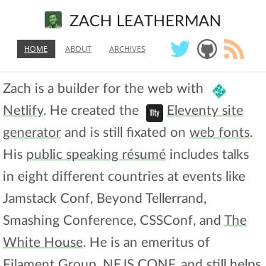 Screenshot of https://www.zachleat.com/