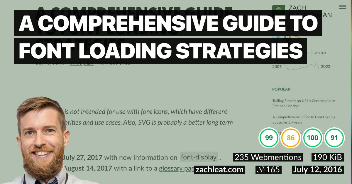 A Comprehensive Guide to Font Loading Strategies—zachleat.com