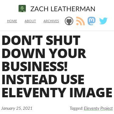 Screenshot of https://www.zachleat.com/web/eleventy-image/