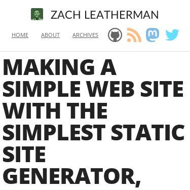 Screenshot of https://www.zachleat.com/web/eleventy-tutorial-level-1/