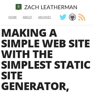 Screenshot of https://www.zachleat.com/web/eleventy-tutorial-level-2/