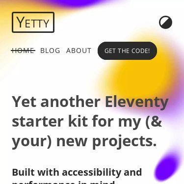 Screenshot of https://yetty.netlify.app/